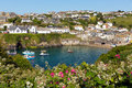 Cornish coastal village of port isaac cornwall england uk harbour north coast Royalty Free Stock Photo