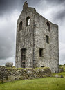 Cornish engine house an old ruined left over from tin and copper mining at minions on bodmin moor in cornwall Royalty Free Stock Images