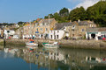 Cornish harbour scene in summer Padstow North Cornwall England UK Royalty Free Stock Photo