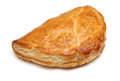 Cornish pastie or pasty freshly baked on white background Stock Images