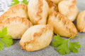 Cornish pasty baked filled with meat and potatoes Royalty Free Stock Photo