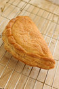 Cornish pasty freshly baked traditional cooling on a rack Royalty Free Stock Photography