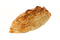 Cornish pasty studio shot with a white background Royalty Free Stock Images
