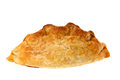 Cornish pasty studio shot with a white background Royalty Free Stock Photography
