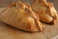 Cornish pasty traditional filled with meat potato swede and carrots Royalty Free Stock Image
