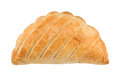 Cornish pasty traditional national dish of cornwall a against a white background Stock Photos