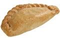Cornish pasty on white fresh baked isolated a background Stock Photo