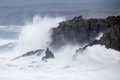Cornish Storm at Sennen Cove Stock Photos