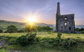 Cornish tin mine an historic ruined at the minions on bodmin moor in cornwall Royalty Free Stock Photo