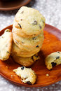 Cornmeal chocolate chunk cookies raisins Royalty Free Stock Photo