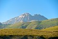 Corno grande and corno piccolo peak abruzzo ital gran sasso view of the twin peaks laquila italy Stock Image