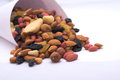 Cornucopia nuts with and dried fruits Royalty Free Stock Photography