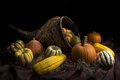 Cornucopia a to celebrate thanksgiving Royalty Free Stock Images