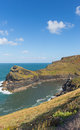Cornwall coast Boscastle Cornwall England UK beautiful autumn day Royalty Free Stock Photo