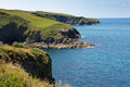 Cornwall coast from port isaac to padstow and polzeath north england facing direction of Stock Images