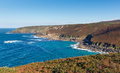 Cornwall coast view from zennor head england uk near st ives on the south west path on the penwith heritage Royalty Free Stock Photos