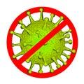 Corona virus. corona virus prevention. illustration of corona virus, No Corona virus, On a white background