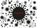 Coronavirus background with stay safe. Vector hashtag with covid-19 virus Royalty Free Stock Photo