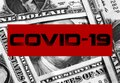 Coronavirus covid19 on money Royalty Free Stock Photo