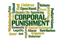 Corporal punishment word cloud on white background Stock Images