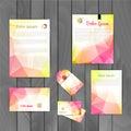Corporate brand Business identity design Template Layout. Letter, Letterhead, Folder, card. Vector company triangle
