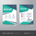 Corporate brochure flyer design layout template in a size with bleed vector eps Stock Images