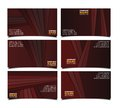 Corporate brown business card  set Royalty Free Stock Photo