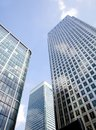 stock image of  Corporate buildings towards