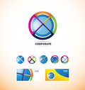 Corporate business sphere circle logo
