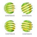 Corporate business sphere logo