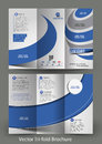 Corporate business store tri fold brochure mock up design Royalty Free Stock Photos