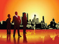 Corporate or business team with urban background Stock Image