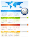 Corporate calendar clean vector Stock Image