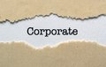 Corporate close up of concept Royalty Free Stock Photos