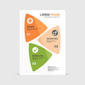 Corporate design of paper flier or brochure cover