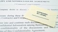 Legal Non-Disclosure Agreement Royalty Free Stock Photo