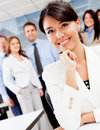 Corporate female worker Stock Images