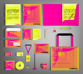 Corporate Identity set. Beautiful geometric design.