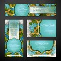 Corporate Identity Set of Floral Templates