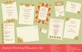 Corporate Identity Set: Presentation Folder, Letterhead, Envelope, Compliment Slip, Corporate Flyer, Business Card on Wood texture Royalty Free Stock Photo