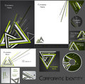 Corporate identity template no editable set design including business paper cards id cd envelope and key chain vector illustration Royalty Free Stock Photo