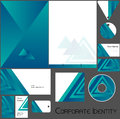 Corporate identity template no editable set design including business paper cards id cd envelope and key chain vector illustration Royalty Free Stock Image