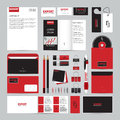 Corporate identity template set. Business mock-up Royalty Free Stock Photo