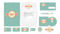Corporate identity templates in vector illustration Royalty Free Stock Image