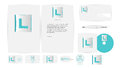 Corporate identity templates in vector illustration Royalty Free Stock Photo