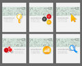 Corporate identity vector templates set Royalty Free Stock Photo