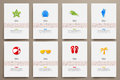 Corporate identity vector templates set with doodles sea theme Royalty Free Stock Photo