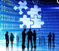 Corporate Jigsaw Puzzle Unity Team Collabration Concept Royalty Free Stock Photo