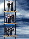 Corporate ladder - business team work Royalty Free Stock Photo