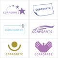 Corporate Logos Royalty Free Stock Photo